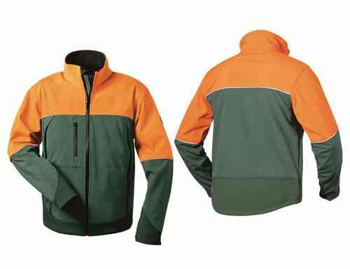 Forst Softshell-Jacke grün/orange